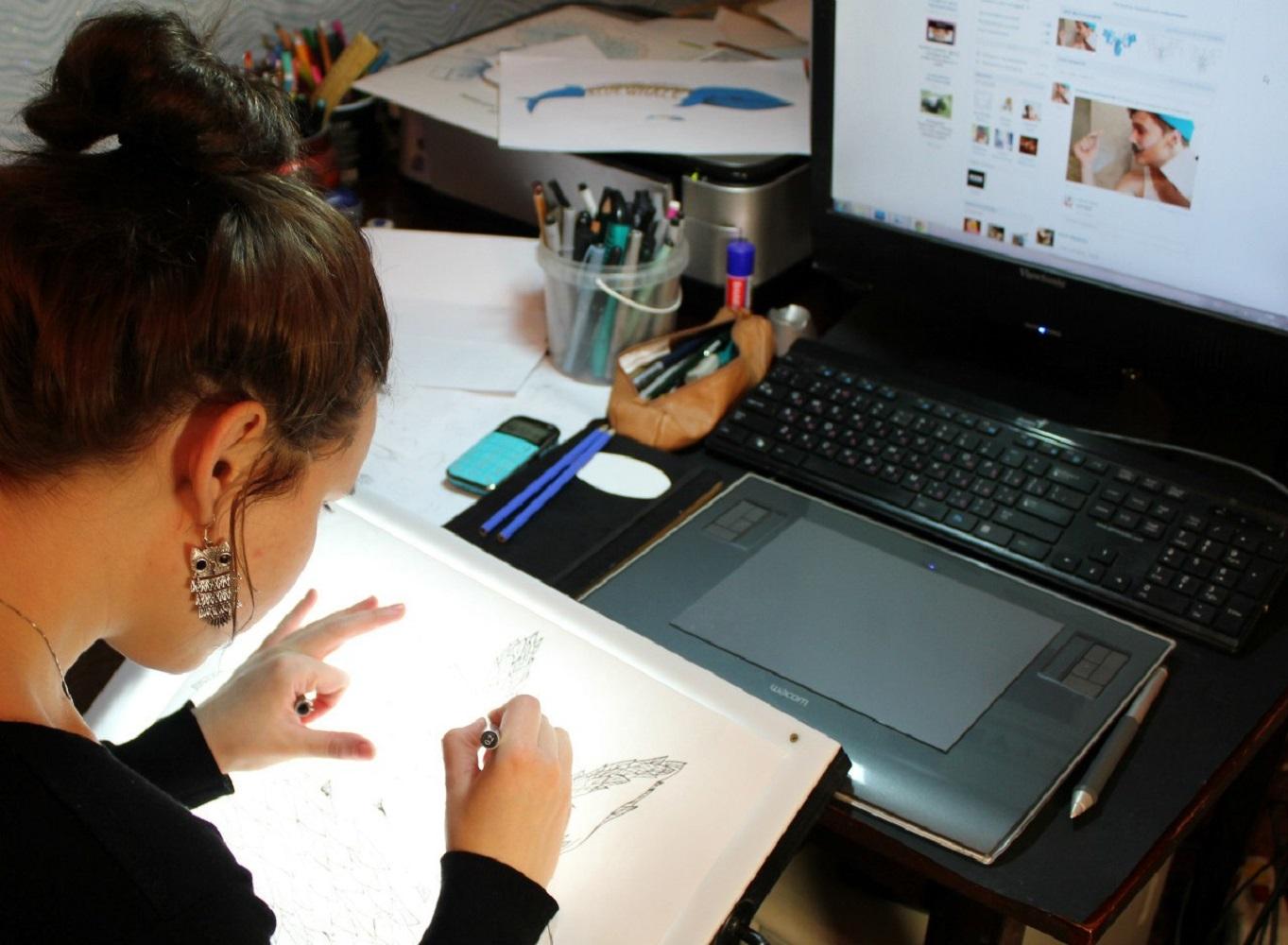 Работа графического дизайнера