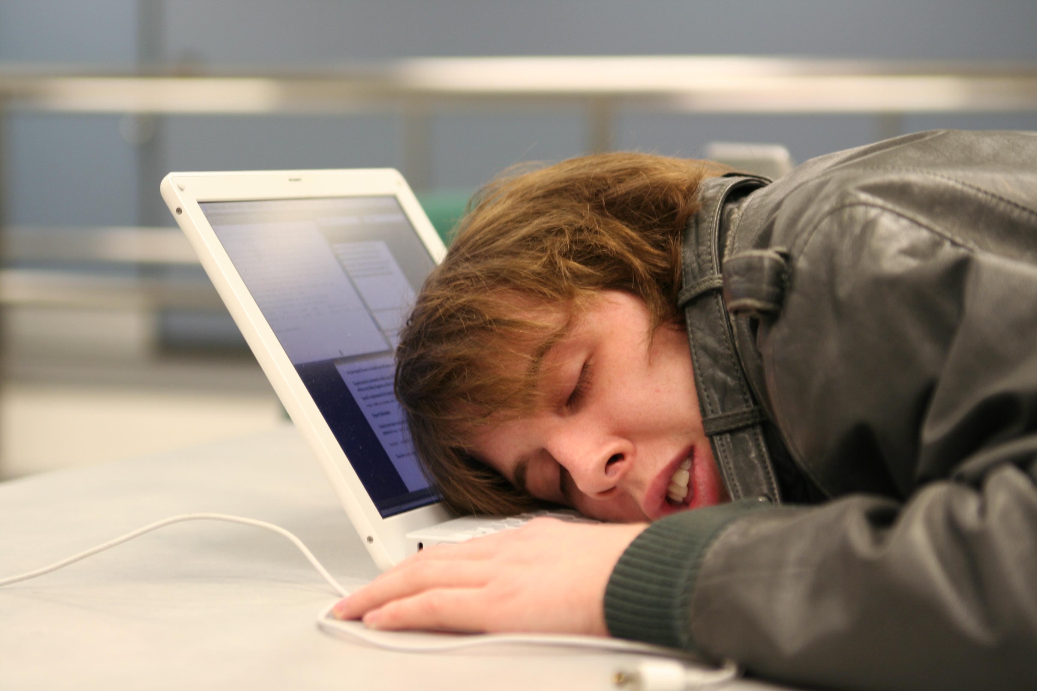 заснул за компьютером картинка начала